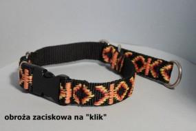 Obroża zaciskowa dla psa na klik - HappyHusky Marzena Pałka Kraków