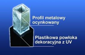 Sztachety plastikowe zbrojone - imitacja kutych Bulowice - P.P.H MAGRO - Sztachety, balustrady, ogrodzenia plastikowe
