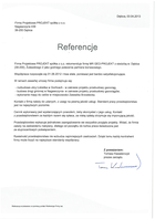 Referencja od firmy Firma Projektowa PROJEKT spółka z o.o.