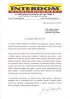 Referencja od firmy F.H. MAWI NIERUCHOMOŚCI INTERDOM Jurczyk Małgorzata