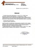 Referencja od firmy DOMINO