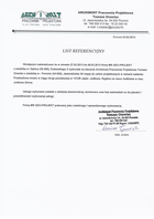 Referencja od firmy Archimost Pracownia Projektowa