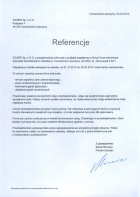Referencja od firmy ZOWER Sp. z.o.o