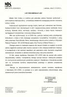 Referencja od firmy MDK Lubliniec