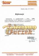 Referencja od firmy Piekarnia Cukiernia Buczek