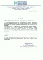 Referencja od firmy EURODIAL SP. Z O.O