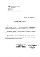 """Referencja od firmy Stowarzyszenie Wspierania Neurologii """"Dendryt"""""""