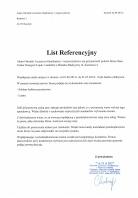 Referencja od firmy Adam Ośrodek Leczniczo-Opiekuńczy i wypoczynkowy