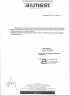 Referencja od firmy Alumast S.A.