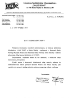 Referencja od firmy GSM Nasz Dom  w Rudzie Śląskiej