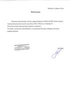 Referencja od firmy ZGK Wieliczka