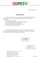Referencja od firmy ERGPET