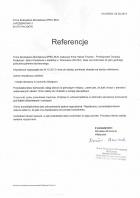 Referencja od firmy Firma Budowlano-Montażowa SPEC BUD
