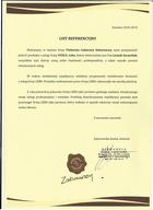 Referencja od firmy PIEKARNIA CUKIERNIA ZABOROWSCY