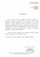 Referencja od firmy NOREQ Sp. z o.o.