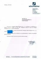 Referencja od firmy Schumacher Packaging Zakład Bydgoszcz Sp. z o.o.