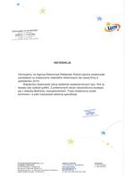 Referencja od firmy Totalizator Sportowy Sp. z o.o. w Warszawie Oddział w Krakowie