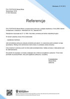 Referencja od firmy PHU FORTRADE Maciej Mikita