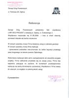 Referencja od firmy Zarząd Dróg Powiatowych w Dębicy