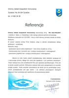 Referencja od firmy Gminny Zakład Gospodarki Komunalnej w Żyrakowie