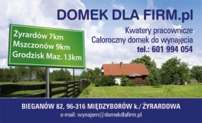 noclegi koło Żyrardowa - Noclegi - domekdlafirm Bieganów