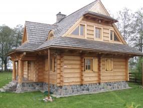 domy z bali ,domy góralskie,domy z płazów Podwilk - Dach-Gont