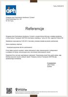 Referencja od firmy Okręgowa Izba Przemysłowo-Handlowa w Tychach