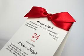 tanie zaproszenia ślubne kartka z kalendarza - Koła Czasu Sosnowiec