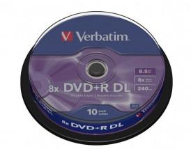 Płyty DVD+R DL Verbatim 8x 8.5GB (Cake 10) - redFOX - Sprzedaż wysyłkowa Łukasz Lisowski Wągrowiec