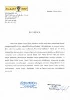 Referencja od firmy Silesia BHP s.c. Rafał Cieleszczyn, Iwona Cieleszczyn