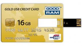 PENDRIVE GOODRAM GOLD KARTA KREDYTOWA 16GB Retail 9 - redFOX - Sprzedaż wysyłkowa Łukasz Lisowski Wągrowiec