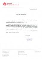 Referencja od firmy BLINK POLSKA sp. z o.ol.