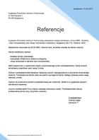 Referencja od firmy Kujawsko-Pomorskie Centrum Pulmonologii