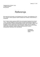 Referencja od firmy Powiatowe Centrum Edukacji i Kultury