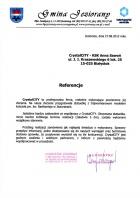 Referencja od firmy Urząd Gminy Jeziorany