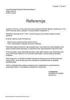 Referencja od firmy Usługi Remontowo Budowlane Witkowski Sławomir
