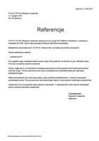 Referencja od firmy PHUP ATRYDA Wojciech Kolasiński