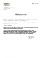 Referencja od firmy   JADŁODAJNIA Paweł Jackowski