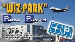 Miejsca postojowe Katowice Pyrzowice - Parking samochodowy  Wiz-Park  - ubezpieczony Pyrzowice