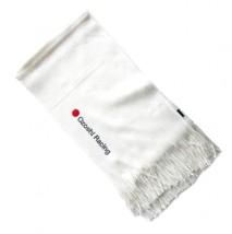 Biały szalik Ozoshi w sportowym stylu - Blancz Białystok