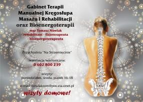 bioterapia, masaż, rehabilitacja,chiropraktyka - Masaże, bioenergoterapia, terapia manualna kręgosłupa Grudziądz