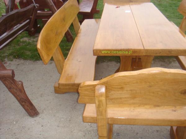 stol z drewna litego meble ogrodowe  Nowy Skoszyn ciesielniapl