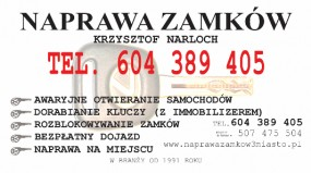 DORABIANIE KLUCZY (z immobilizerem) - Naprawa Zamków Krzysztof Narloch Gdańsk
