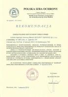 Referencja od firmy Polska Izba Ochrony