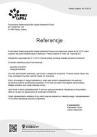 Referencja od firmy Przychodnia Weterynaryjna Boli Łapka Aleksandra Pisula