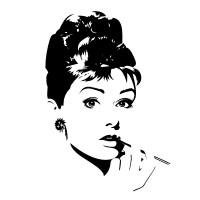 Welurowa naklejka  Audrey Hepburn W3 - Wikam Reklama i Dekoracje Albert Wiśniewski Bielice