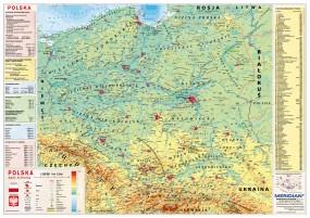 Mapa fizyczna Polski - Wydawnictwo Meridian Szczecin