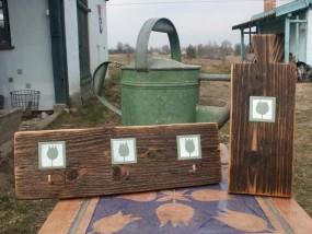 rękodzieło drewniane inkrustowane ceramiką - Galeria Wiejska - Zawady Oleckie Zawady Oleckie