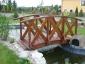 Drewniany mostek - Drew - Dom Adam Szymonik Rudnik nad Sanem