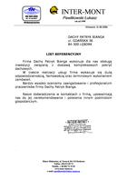 Referencja od firmy INTERMONT ŁUKASZ PAWLIKOWSKI